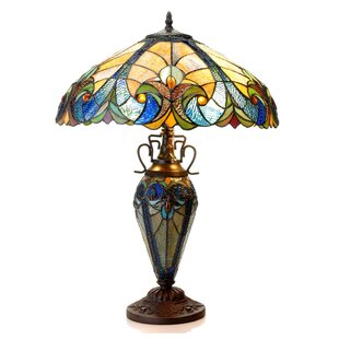 Aldan 24.75 Tiffany Table Lamp
