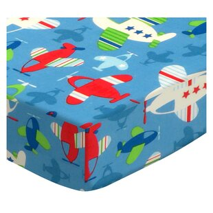 Read Reviews Baby Airplanes Fitted Crib Sheet By Sheetworld