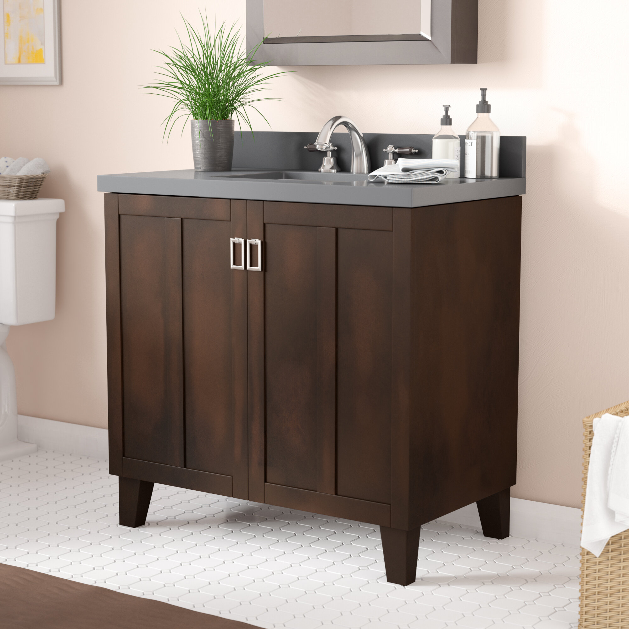 furniture freestanding cannes rustic products vanity in bourdeaux bathroom