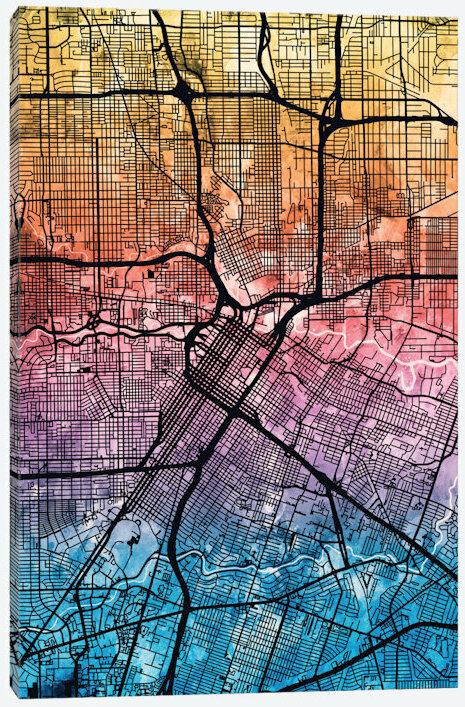 Reverse Blend Urban Street Map Series: Houston, Texas, USA Graphic on 1st usa map, broken usa map, license plate usa map,