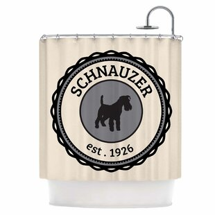 Schnauzer Single Shower Curtain by East Urban Home Great Reviews