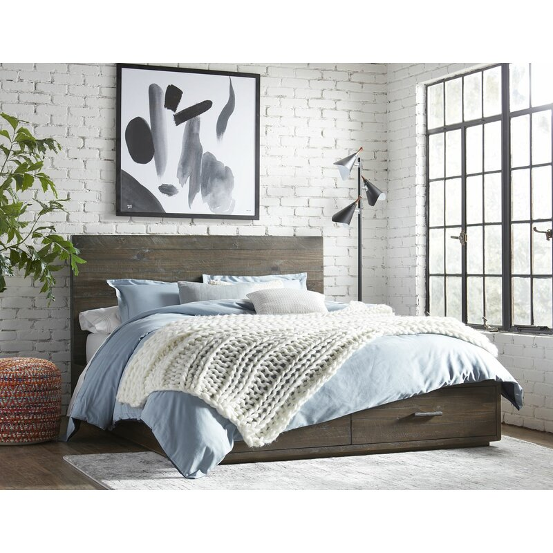 Union Rustic Mckinney Solid Wood Storage Platform Bed Wayfair