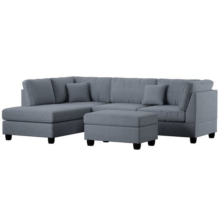 Terrific Bibler Left Hand Facing Sectional With Ottoman Gmtry Best Dining Table And Chair Ideas Images Gmtryco