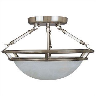 Gearheart 3-Light Semi-Flush Mount by Darby Home Co