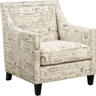 Ophelia & Co. Flower Armchair with Nailhead Trim