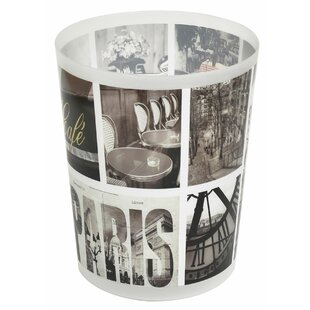 Evideco Cafe Paris 1.2 Gallon Waste Basket