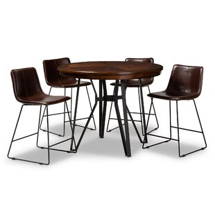 Albritton 5 Piece Pub Table Set by Foundry Select