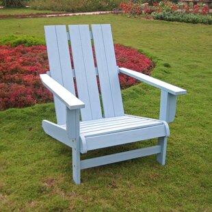 Duckett Solid Wood Adirondack Chair by Highland Dunes