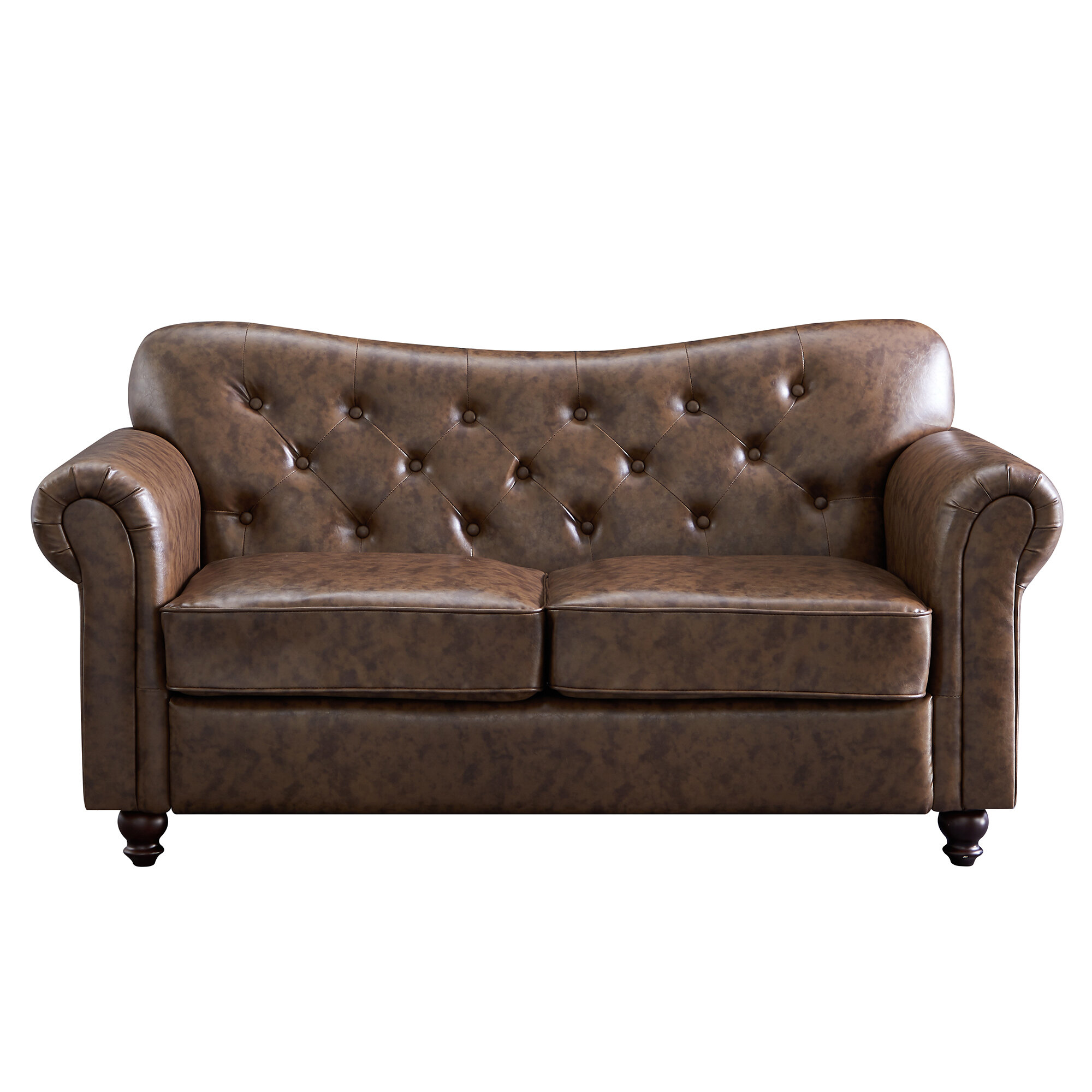 Alcott Hill Orval 64 17 Rolled Arm Loveseat Wayfair