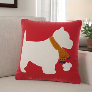Leboeuf Scottie Cotton Throw Pillow