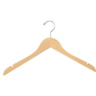 Compare prices Jett Outerwear Wood Hanger (Set of 100) By Rebrilliant