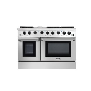 48 Free-standing Gas Range with Griddle by Thor Kitchen