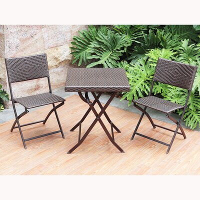 Baylee 3 Piece Bistro Set by Rosecliff Heights Savings