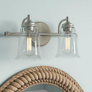 Beachcrest Home Mullis Metal 2-Light Vanity Light
