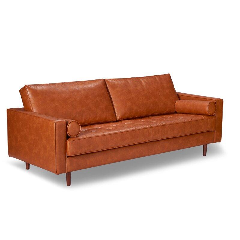 Trent Austin Design Bombay Leather Sofa Reviews Wayfair