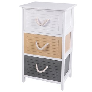 Deloris 3 Drawer Nightstand by Highland Dunes