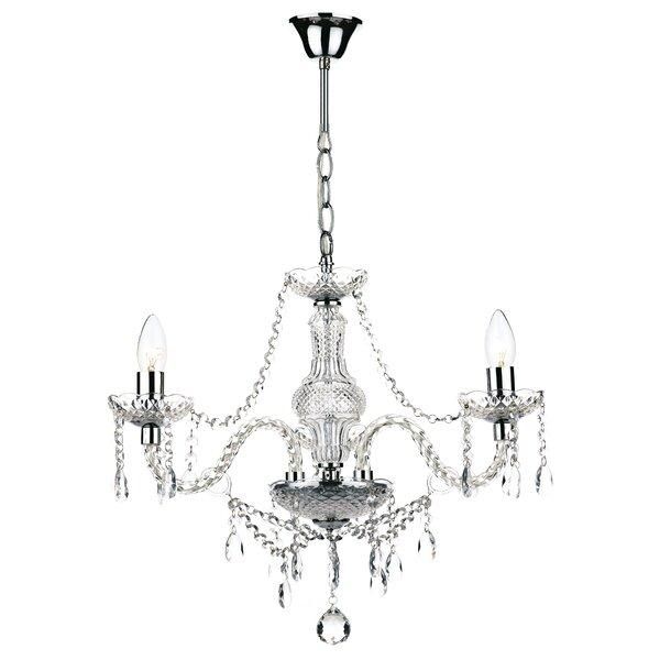 Dar lighting katie 3 light crystal chandelier reviews wayfair aloadofball Images