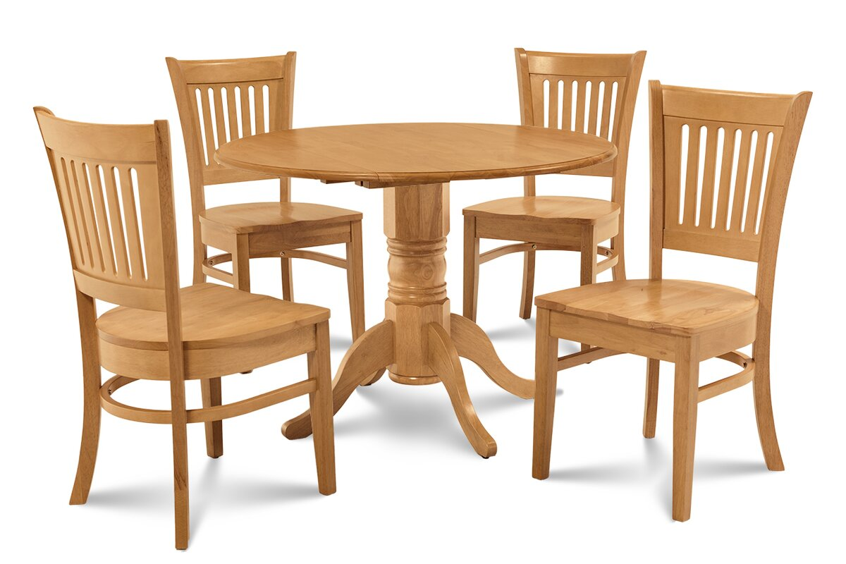 Alcott Hill Thornhill 5 Piece Drop Leaf Dining Set & Reviews | Wayfair