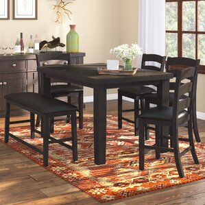 Bodie 6 Piece Counter Height Dining Set by Loon ..