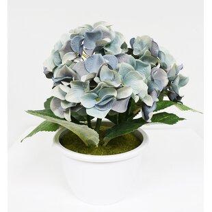 Artificial Hydrangea Flower Floral Arrangement in Pot