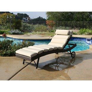 Latitude Run Leib Chaise Lounge with Cushion