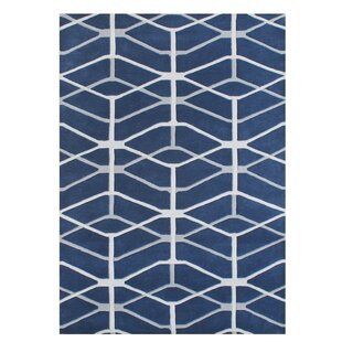 Gladwin Blend Hand-Tufted Wool Blue Area Rug By Brayden Studio