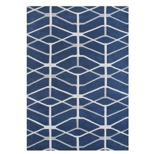 Guide to buy Gladwin Blend Hand-Tufted Wool Blue Area Rug ByBrayden Studio
