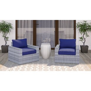 Burkley Patio Chair with Cushions (Set of 2) by Longshore Tides