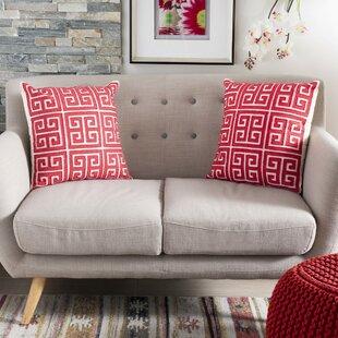 Surprising Modern Greek Key Large Throw Pillow Set Of 2 Dailytribune Chair Design For Home Dailytribuneorg