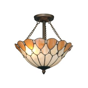 Owens 2-Light Semi Flush Mount by Astoria Grand