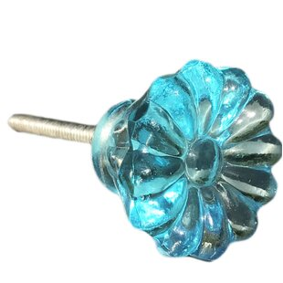 Glass Sunflower Novelty Knob