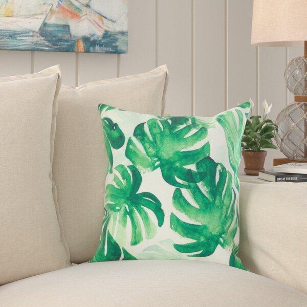 Palm Leaf Print Pillow Wayfair