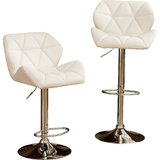 Marceline Hydraulic Adjustable Height Swivel Bar Stool (Set of 2) by Zipcode Design™