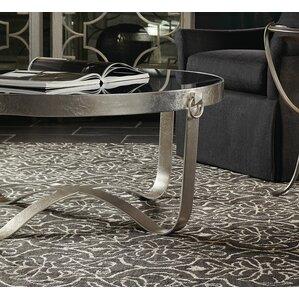 Portia Metal Round Coffee Table by Bernhardt