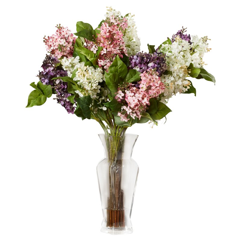 Glenham lilac silk flower arrangement reviews joss main glenham lilac silk flower arrangement mightylinksfo