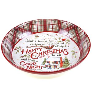 The Night Before Christmas Serving Bowl