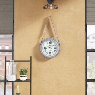 Brushed Nickel Clock | Wayfair
