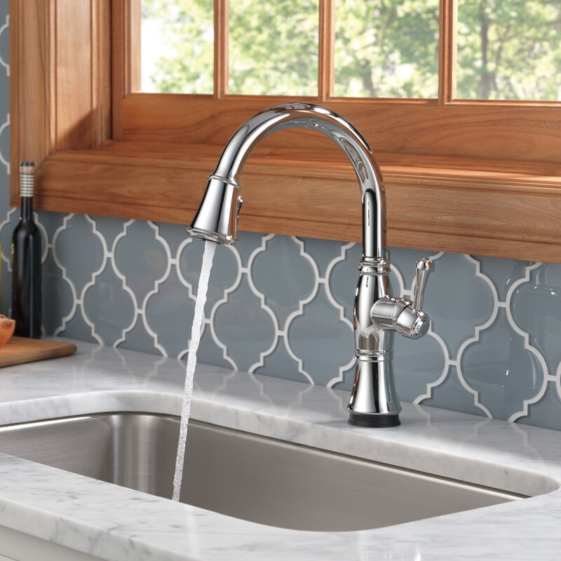 Delta Cassidy Pull Down Touch Single Handle Kitchen Faucet with ...