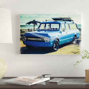 'Summertime Blues - 1970's Chevrolet Suburban' Graphic Art Print on Canvas By East Urban Home