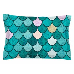 Famenxt 'Mermaid Fish Scales' Nautical Illustration Sham