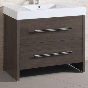 36u201d single modern bathroom vanity set
