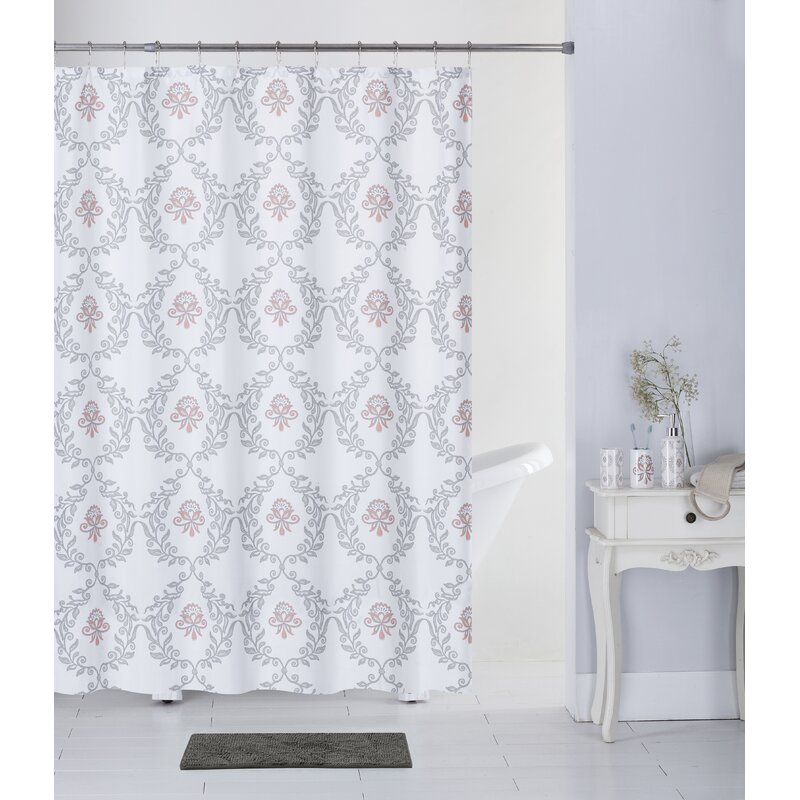 Heather 17 Piece Leaf Bonjour Paris Shower Curtain Set