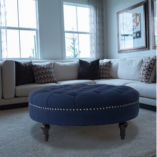 Holquin Tufted Round Ottoman