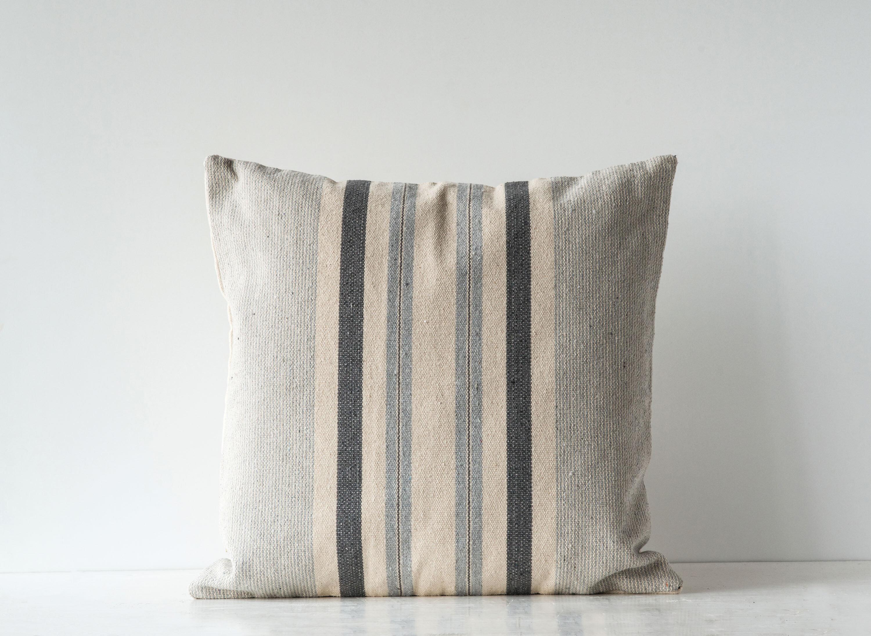 Gracie Oaks Novinger Striped Woven Cotton Throw Pillow Reviews Wayfair