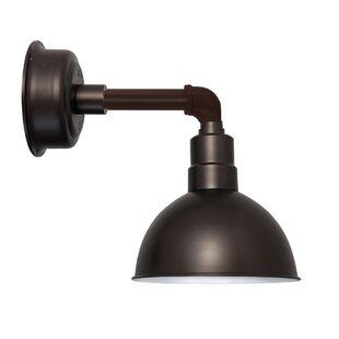 Budget Cosmopolitan Blackspot 1-Light LED Barn Light By Cocoweb