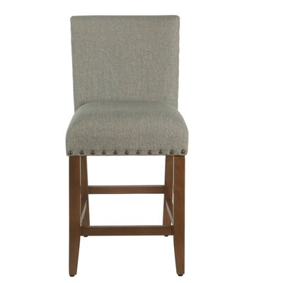 "Arlene 24"" Bar Stool Seat Color: Dark Gray, Frame Color: Gray Washed by Darby Home Co"