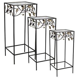 Fleur De Lis Living Coombs 3 Piece Metal Nesting Table Set