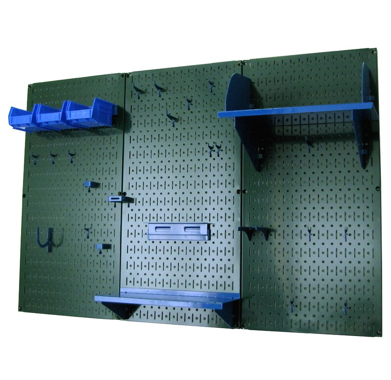 Wall Control 30-GRD-200 BUBU Pegboard Garden Supplies Storage and Organization Garden Tool Organizer Kit with Blue Pegboard and Blue Accessories