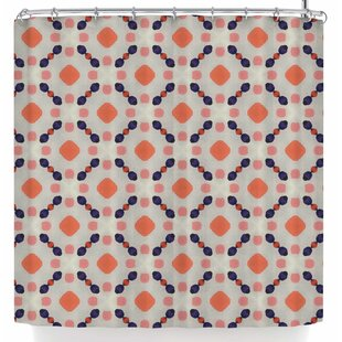 Monica Martinez Vintage Dots Single Shower Curtain
