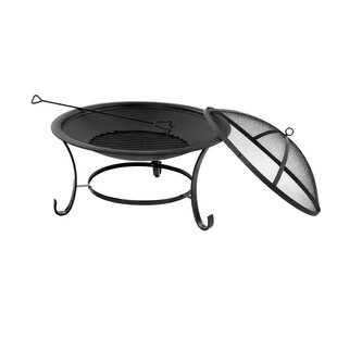 Yvaine Steel Wood Burning Fire Pit By Andover Mills